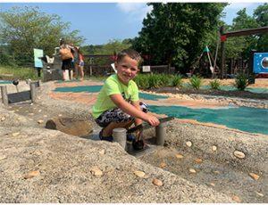 Playing at Chesapeake Sensory Plaza