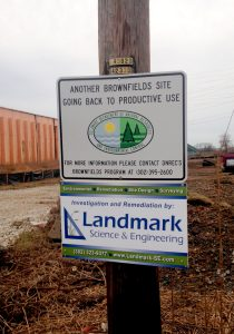 DNREC Brownfield Sign at Terminal Ave
