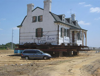 James Morrow farmhouse moved